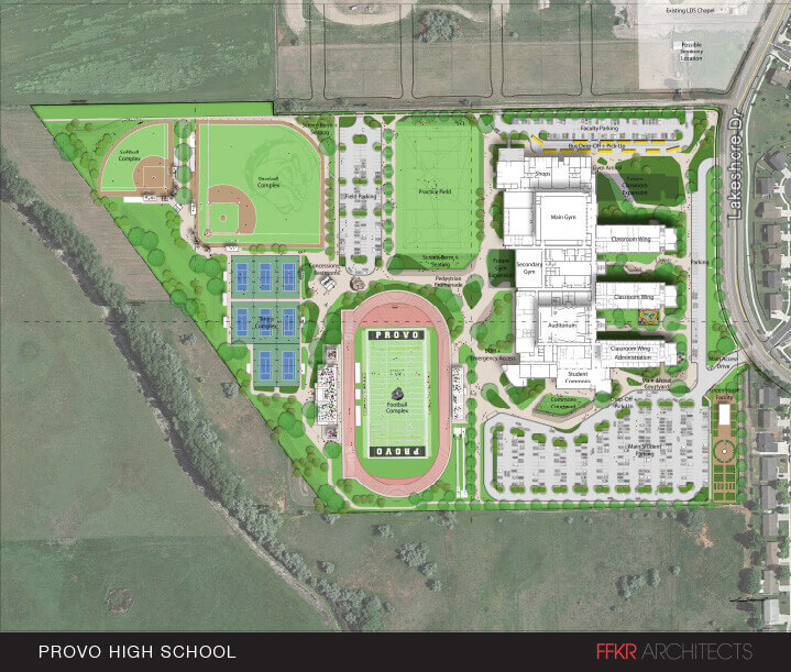 Provo High site plan