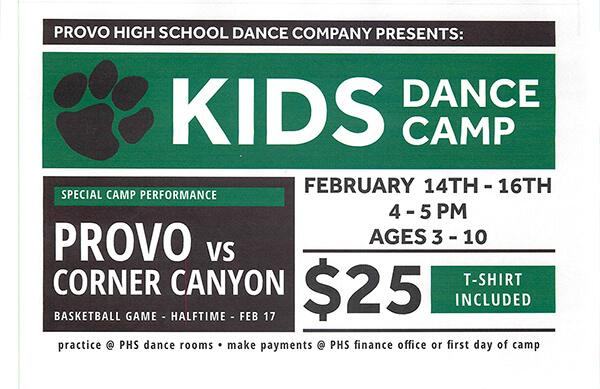 provo high dance camp flier