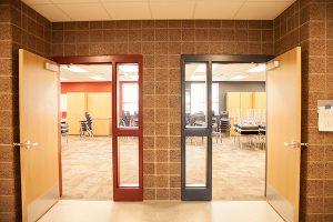 sunset view classroom doors