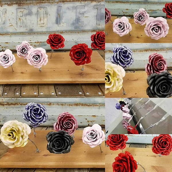 pictures of welded metal flowers for purchase