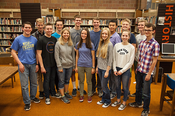 Ethan Bernards, Tyler Blake, Candace Brown, Sophia Choate, Benjamin Dahl, Michael Dew, Brian Dong, Emma Fox, Ian Goodwin, Carter Norton, Sadie Tayler, Spencer Thompson, Niels Turley, and Jens Watts