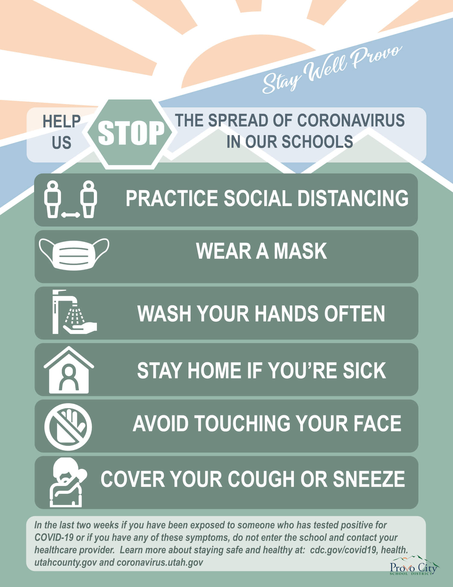 Stop the spread infographic
