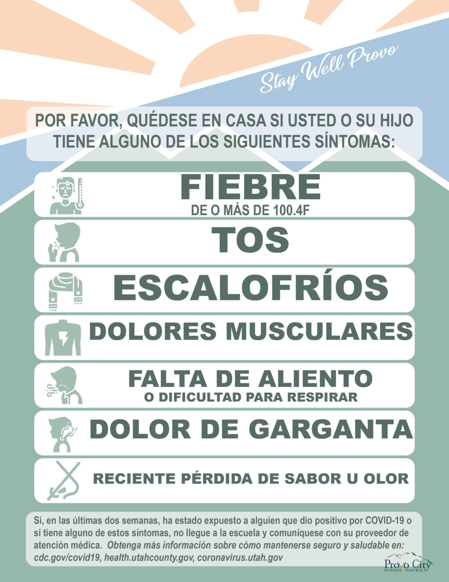 symptom spanish infographic