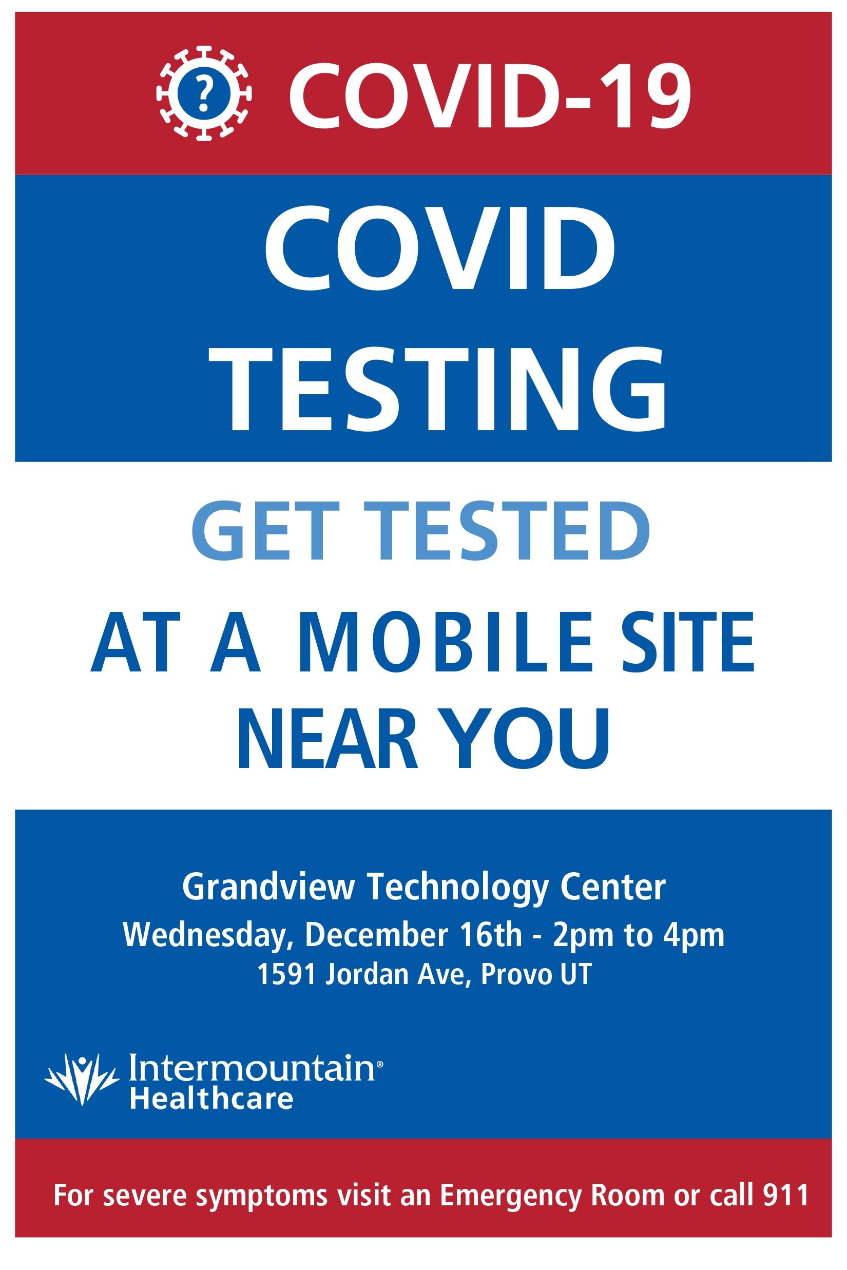 Covid testing flier